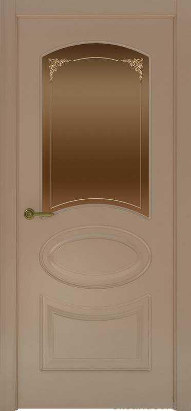 Дверь Provence 1 (мокко, стекло бронзовое Виола)