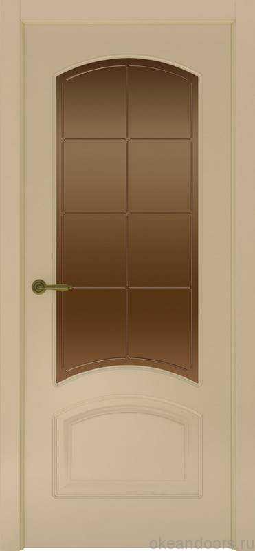 Дверь Provence 4 (слоновая кость, стекло бронзовое Решетка)