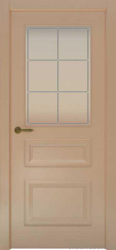 Дверь Provence 3 (капучино, стекло белое Решетка)