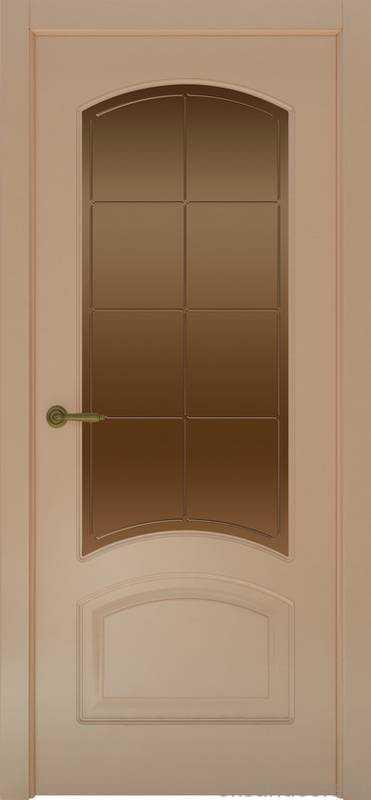 Дверь Provence 4 (капучино, стекло бронзовое Решетка)