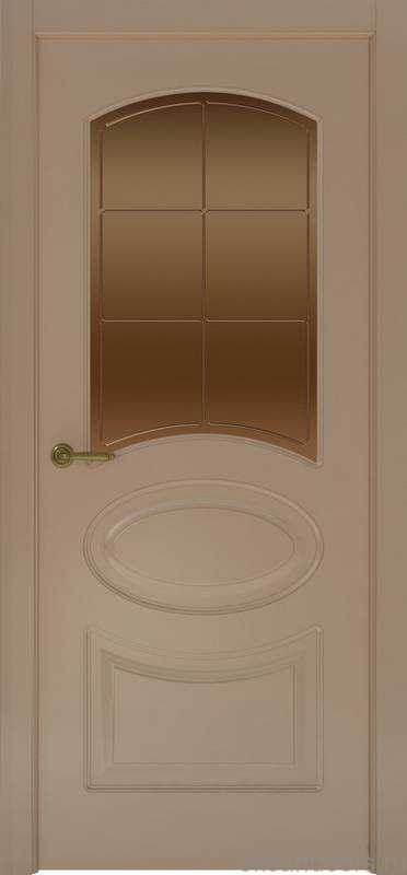 Дверь Provence 1 (мокко, стекло бронзовое Решетка)