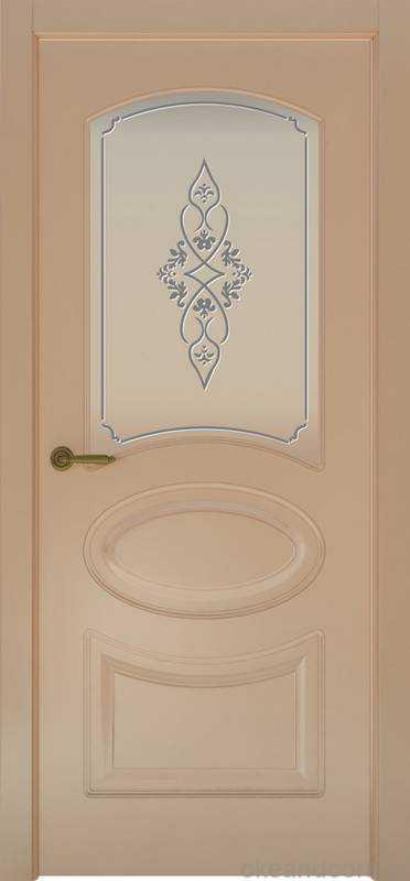 Дверь Provence 1 (капучино, стекло белое Арабеска)