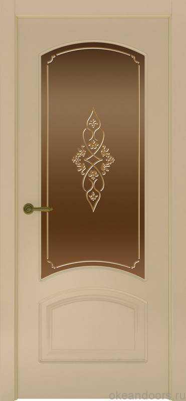 Дверь Provence 4 (слоновая кость, стекло бронзовое Арабеска)