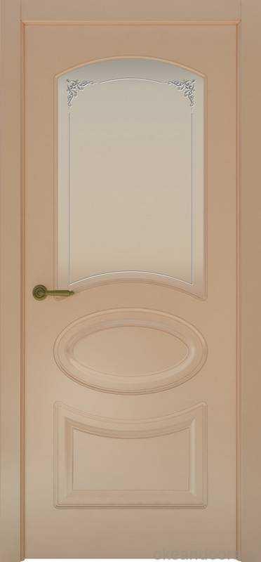 Дверь Provence 1 (капучино, стекло белое Виола)
