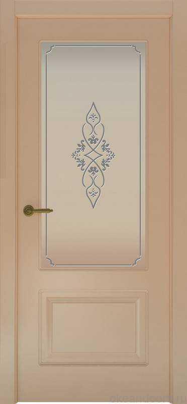 Дверь Provence 2 (капучино, стекло белое Арабеска)