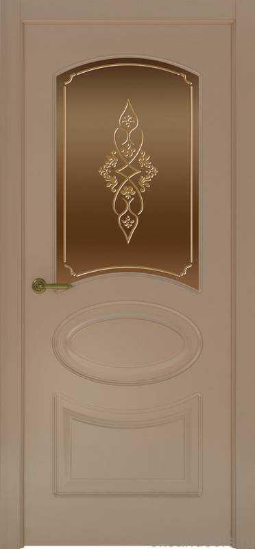 Дверь Provence 1 (мокко, стекло бронзовое Арабеска)