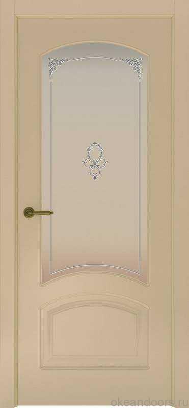 Дверь Provence 4 (слоновая кость, стекло белое Виола)