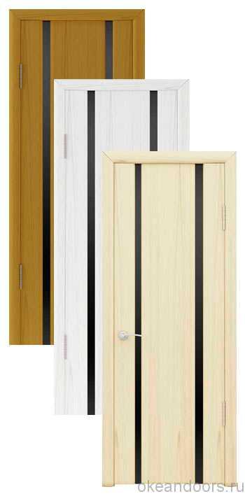 Коллекция дверей Океан Шторм-2 (10 цветов, черное стекло)