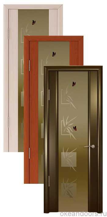 """Коллекция дверей Океан Шторм-3 """"Бабочки"""" (10 цветов, бронзовое стекло)"""