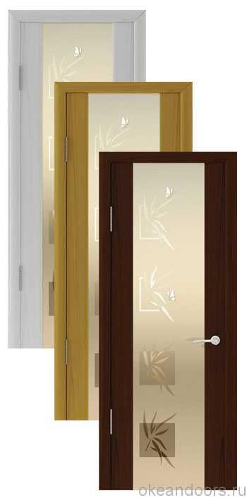 """Коллекция дверей Океан Шторм-3 """"Бабочки"""" (10 цветов, белое стекло)"""