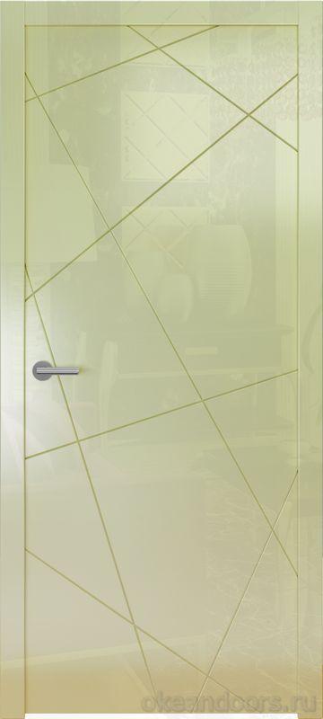 Avorio-6 (кремовое глянец, дизайн полотна Line)