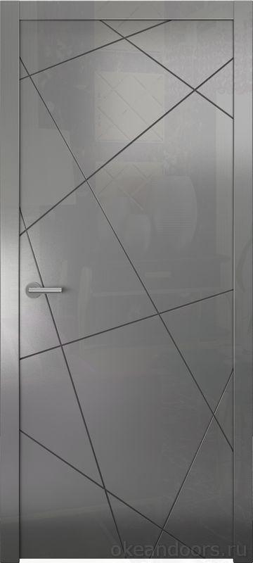 Avorio-6 (графит глянец, дизайн полотна Line)