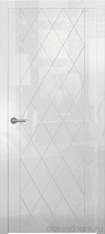 Avorio-6 (белое глянец, дизайн полотна Diamond)