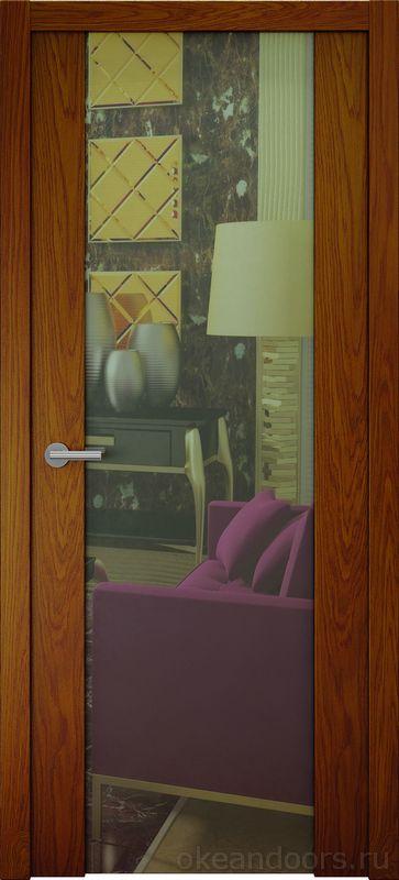 Avorio-7 (шпон дуб коньяк, зеркало)