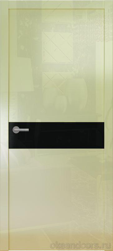 Avorio-9 (кремовое глянцевое / 9 цветов, глянец / черная стеклянная вставка)
