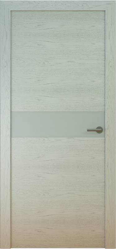 DeVesta Natural 3 (дуб серый матовый, стеклянная тонированная вставка)