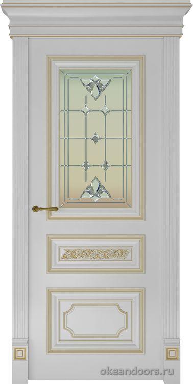 Dinastia-2 (стекло Классика, белая, патина бронза)