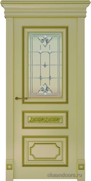 Dinastia-2 (стекло Классика, слоновая кость, патина золото)