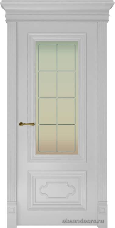 Dinastia-1 Ажур (стекло Решетка, белая)