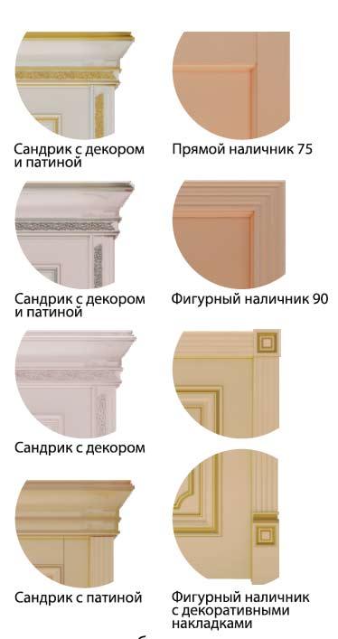 Варианты обрамления дверей Dinastia