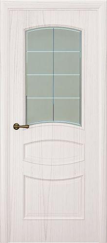 Milano-2, ясень белый жемчуг, стекло белое решетка