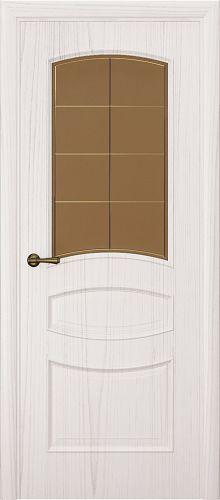 Milano-2, ясень белый жемчуг, стекло бронза решетка