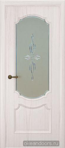 Milano-3, ясень белый жемчуг, стекло белое агата