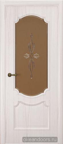 Milano-3, ясень белый жемчуг, стекло бронза агата