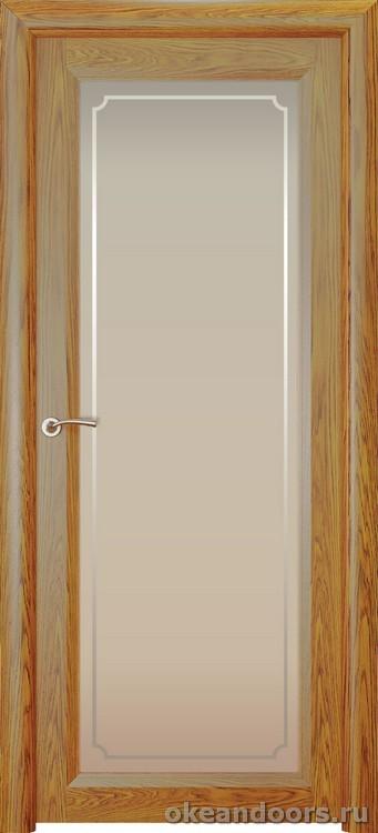 Optima 1 натуральный дуб золотой, стекло белое Рамка