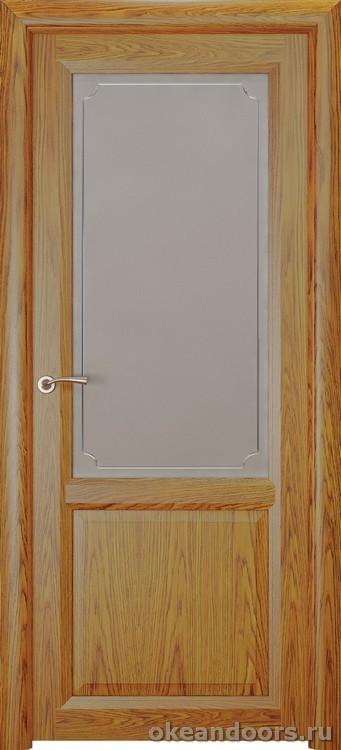 Optima 2, натуральный дуб золотой, стекло белое Рамка