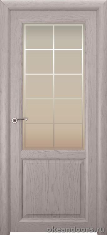 Optima 2 натуральный дуб серый, стекло белое Решетка