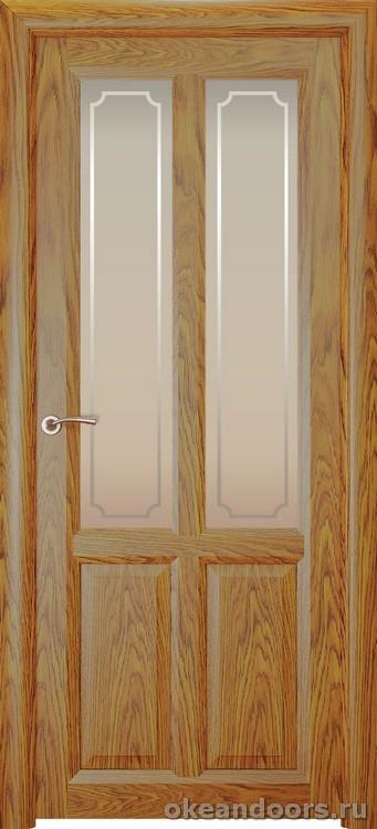 Optima-4, натуральный дуб золотой, стекло белое Рамка