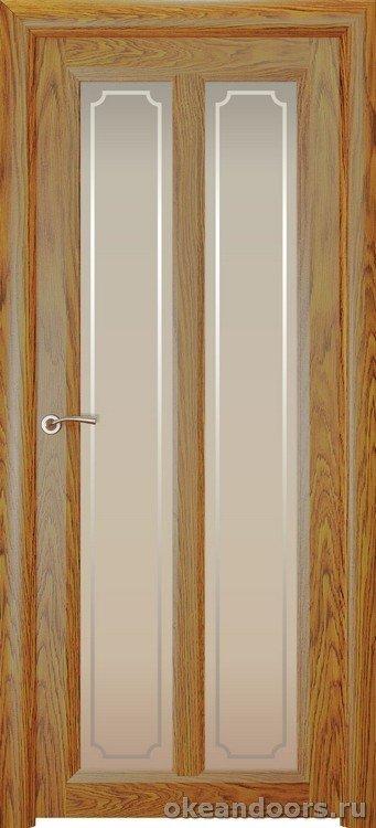 Optima-5, натуральный дуб золотой, стекло белое Рамка
