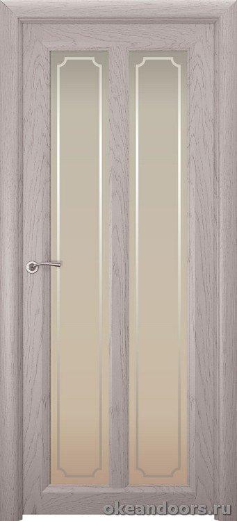 Optima-5, натуральный дуб серый, стекло белое Рамка
