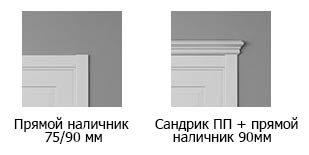 Варианты обрамления дверей Riva Classic