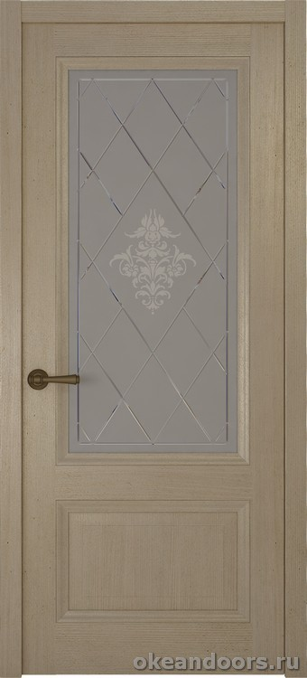 Riva classica, дуб натуральный стекло белое Лана