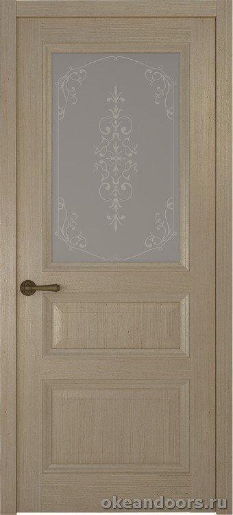 Riva-Classica, дуб натуральный, стекло белое Флер