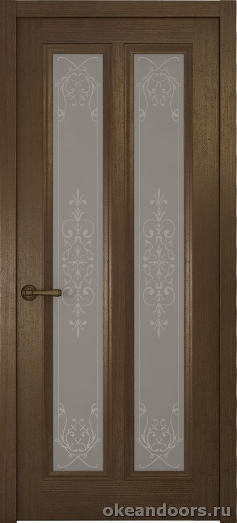 Riva Classica 3, дуб табачный, стекло белое Флер