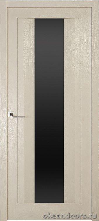Riva Moderno 2 стекло черный триплекс, дуб белый с патиной