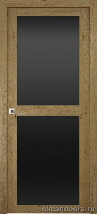 Riva Prima 2, стекло черный триплекс, дуб золотой