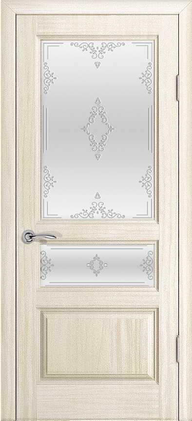 Двери Океан Марсель (Ясень белый жемчуг), стекло белое