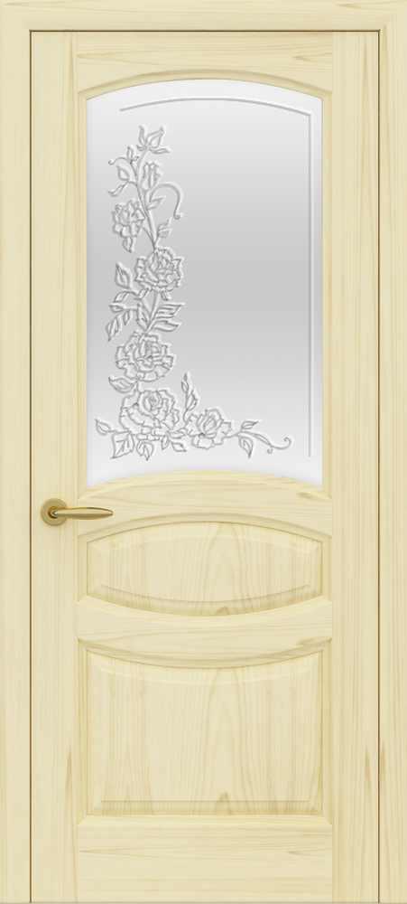 Двери Океан Изабелла (ясень слоновая кость), стекло белое