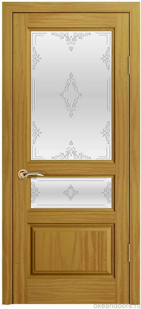 Марсель (ясень шервуд), стекло белое