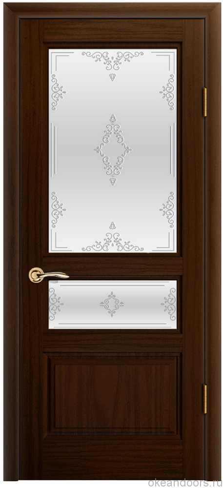 Двери Океан Марсель (ясень винтаж), стекло белое