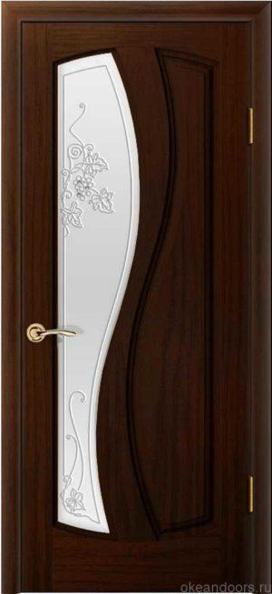 Двери Океан Шарм (ясень винтаж), стекло белое