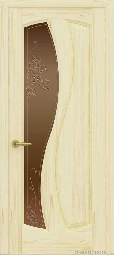 Двери Океан Шарм (ясень слоновая кость), стекло бронзовое