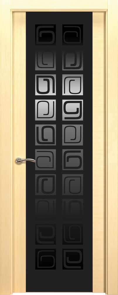 Двери Океан de Vesta P (беленый дуб), стекло CONCEPT черное
