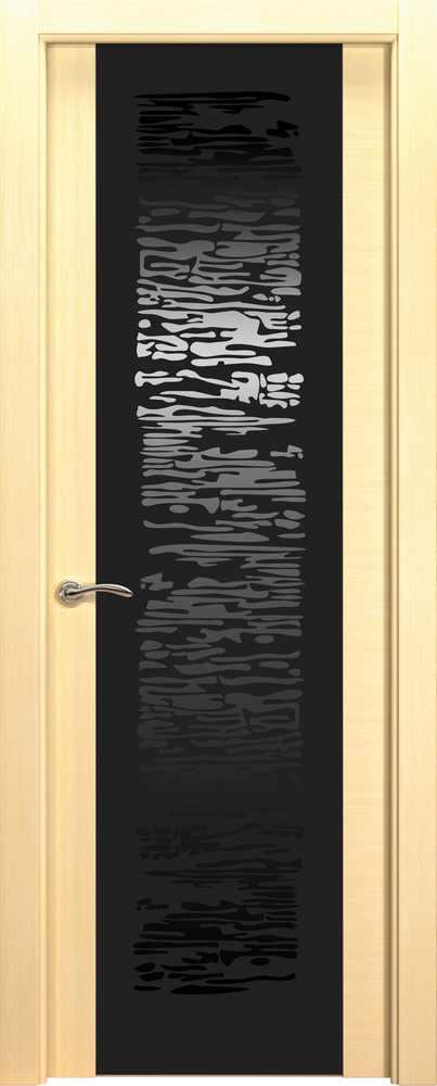 Двери Океан de Vesta P (беленый дуб), стекло EGO черное