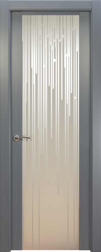 Двери Океан de Vesta Flex (серебристый дуб), стекло белое