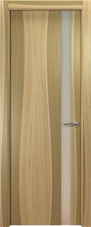 Двери Океан de Vesta L (светлый орех), стекло белое
